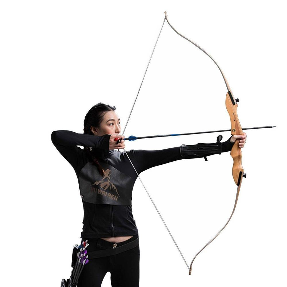 TOPARCHERY Take Down Recurve Bow 10lbs/16Lbs /20lbs 48'' Archery Hunting Youth Right Hand Target Longbow Practice Beginner|Bow & Arrow| |  -