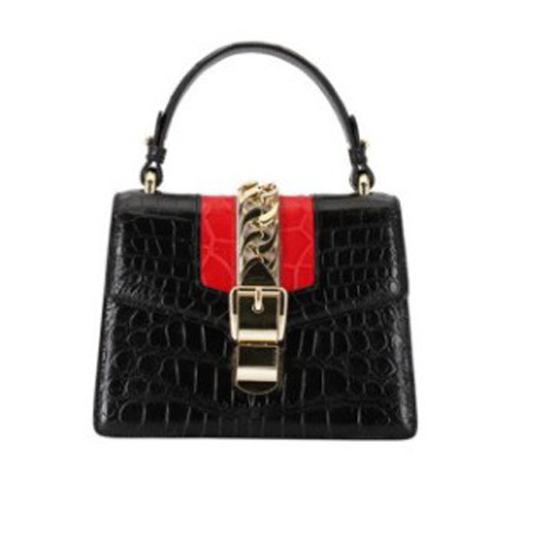 Hongzhiyan New Genuine Crocodile Leather Women Handbag For Women - A Small Fragrance Crocodile Skin Handbag For Women Handbag
