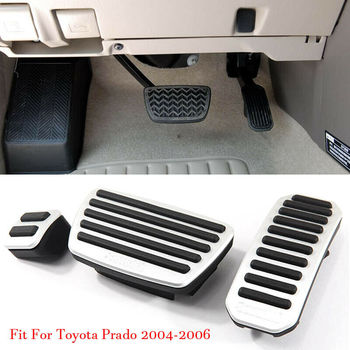 Car Alloy Accelerator Gas Brake Footrest Pedal Plate Pad Cover Fit For Toyota Prado