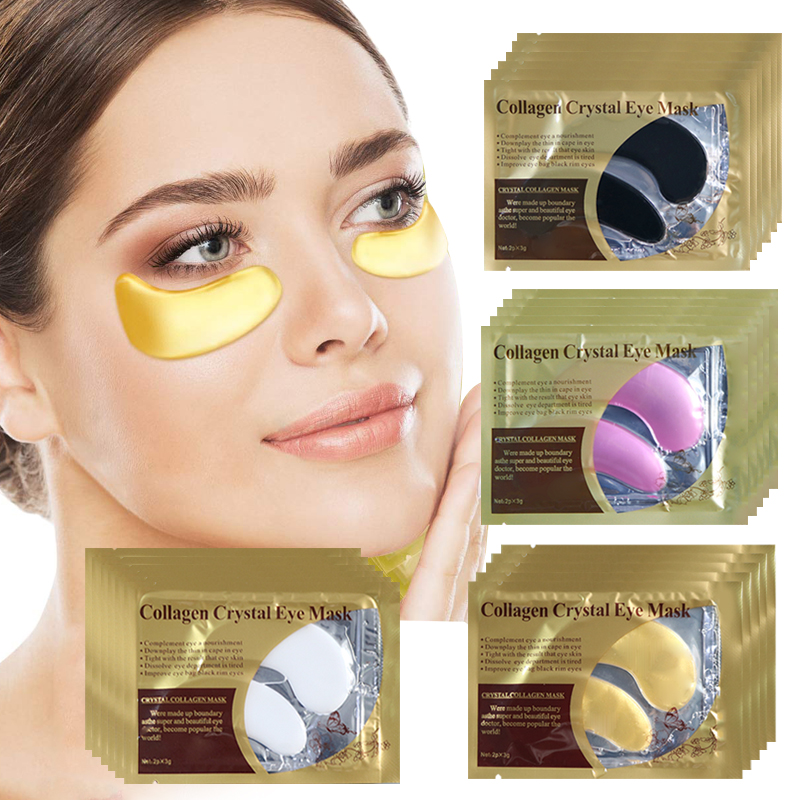 5/8/10pair Gold Eye Mask Collagen Crystal Eye Patches Pad Anti Wrinkle Mask Remove Dark Circles Moisturizing Patches Under Eyes