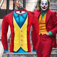 Joker 2019 Joaquin Phoenix Arthur Fleck Cosplay Kostüm Halloween 3D Gedruckt Compression T-shirt Finess Schnell Trocknend Enge Tops