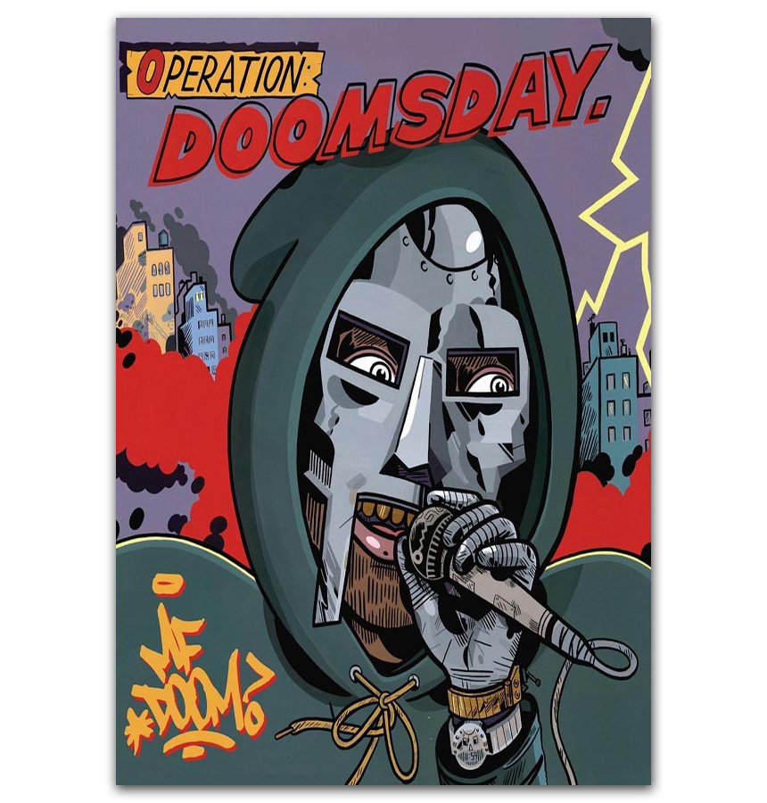 gx139 mf doom operation doomsday 2011 edition hip hop cove painting poster prints canvas wall picture for home room decor
