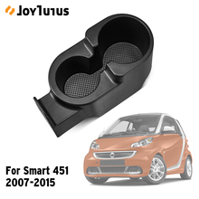 Upgraded Car Drinks Holder Cup Mount Center Console Double Deeper Cup Holder for Smart Fortwo 451 2007-2015 Car Bottle Organizer
