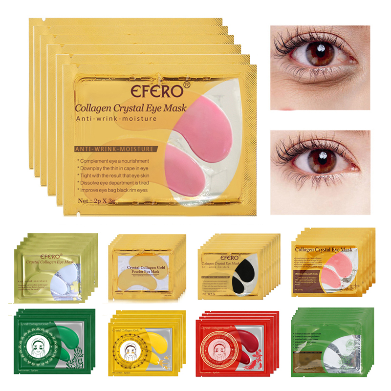 5pair Collagen Powder Eye Mask Gel Eye Patch Under Eye Dark Circle Remover Gel Pads Sheet Mask Gold Mask Patches Skin Care