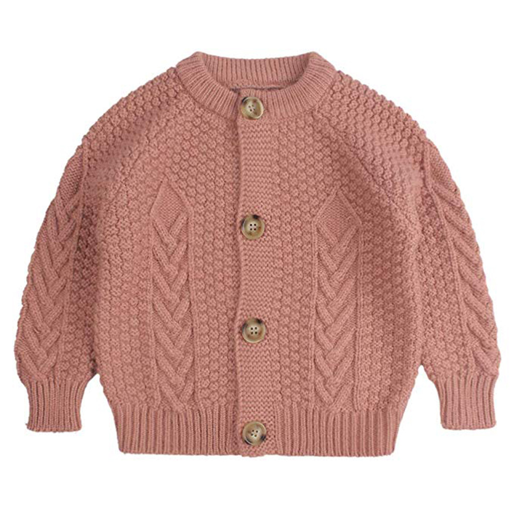 Baby Girls Toddler Kids Crochet Knitted Sweater Pullover Cardigan Top Clothes