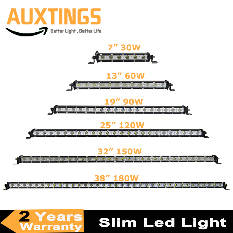 "Super Slim LED Light Bar Single Row 7"" 13"" 19"" 25"" 32"" 38'' 30W 60W 90W 120W 180W For SUV 4X4 ATV Off Road LED Work Light Bar"