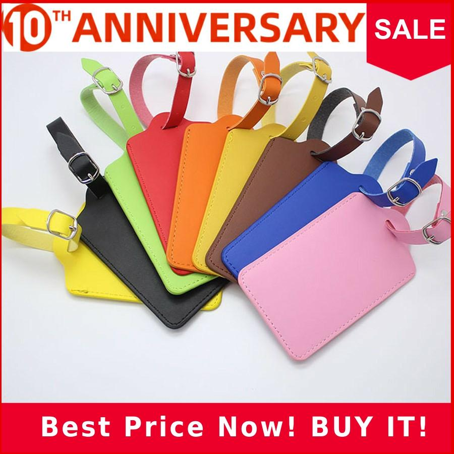 High-Quality PU Leather Suitcase Luggage Tag Label Bag Pendant Handbag Portable Travel Accessories Name ID Address Tags LT23b