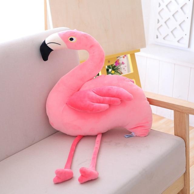 Hot Toys Stuffed Animals Flamingo Doll Cute Stuffed Toys for Children Lifelike Plush Toys Soft Sofa Cushion Pillow Gift