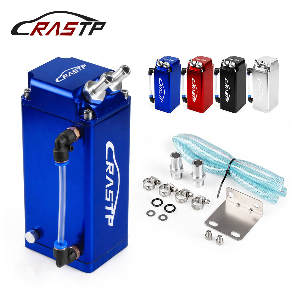 RASTP Universal Aluminum Square Shape Oil Catch Can Tank Reservoir Racing Engine Fuel Tanks RS OCC018|Fuel Tanks| |  - title=