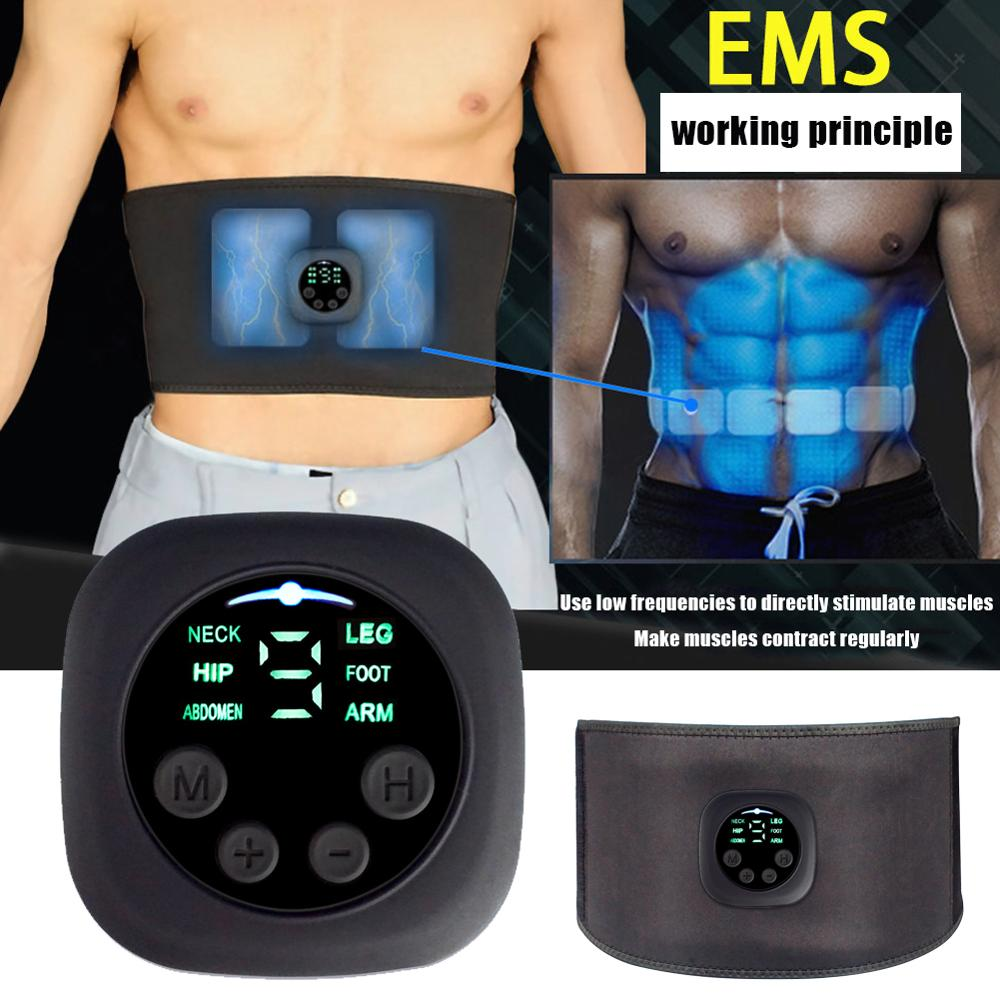 EMS aparato muscular Abdominal con forma de cinturón, pérdida de peso, gimnasio en casa, máquina de adelgazamiento corporal