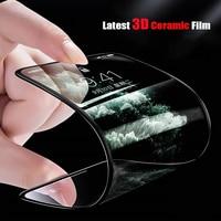 Seramik yumuşak temperli cam ekran koruyucu film için Xiaomi Redmi K30 K20 6 6A 7A 8A 9A not 7 8 9S Pro Max10x MI CC9 9P RIME