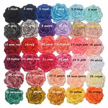 Hot Sale 40pcs/lot 7CM Chiffon Flower Fabric Flowers For Headband DIY Hair Accessories LSFB038
