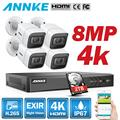 ANNKE 4K Ultra HD 8CH видео система безопасности 8MP 5в1 H.265 DVR с 4 шт 8MP Открытый всепогодный CCTV камеры видеонаблюдения комплект