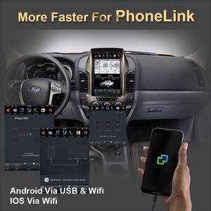 12,1 дюймовый вертикальный экран Tesla Android 9,0 Голосовое управление автомобильный Радио плеер Gps для Ford Ranger/F250 2011-2016 Автомобильный GPS навигатор