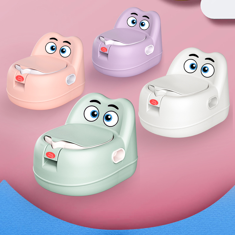 Baby Potty Toilet Bowl Training Pan Toilet Seat Portable Potty Chair Urinal Comfortable Backrest Cartoon Baby Potty