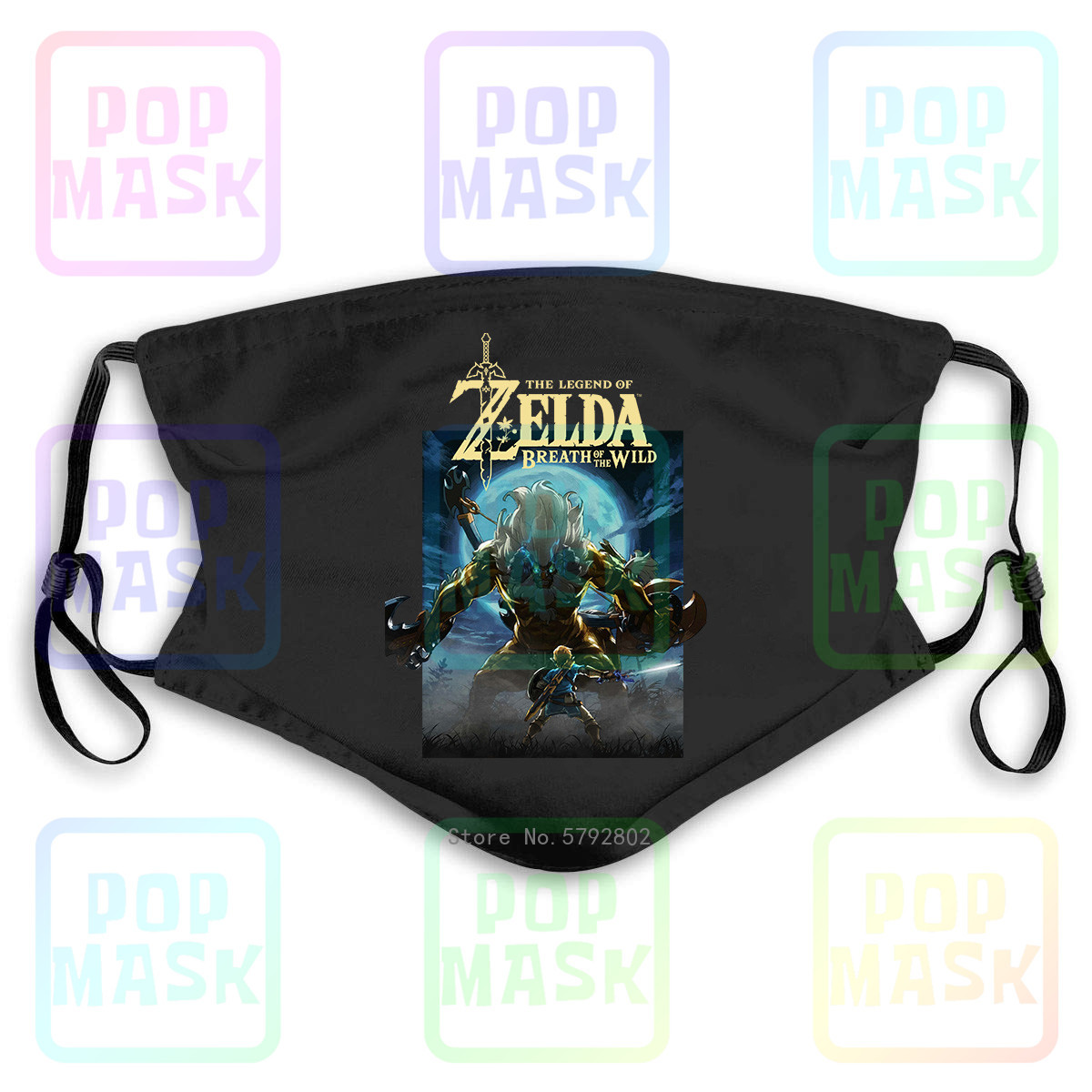 Dust Mask With Filter The Legend Of Zelda Breath Of The Wild Moonlight Washable Reusable Mask