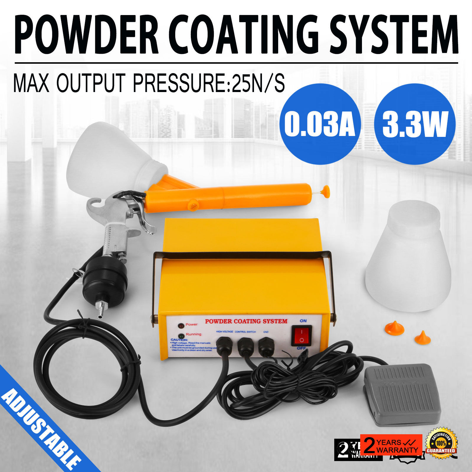Powder Coating System Portable Electrostatic Spray Paint Gun PC03-5