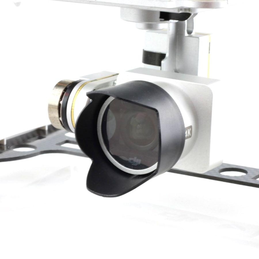 For DJI Phantom 4 3 Camera Lens Hood Sunshade Antiglare Sunhood for DJI Phantom 4 Phantom 3 Black Gimbal Lens Accessory|Body shell| |  - title=