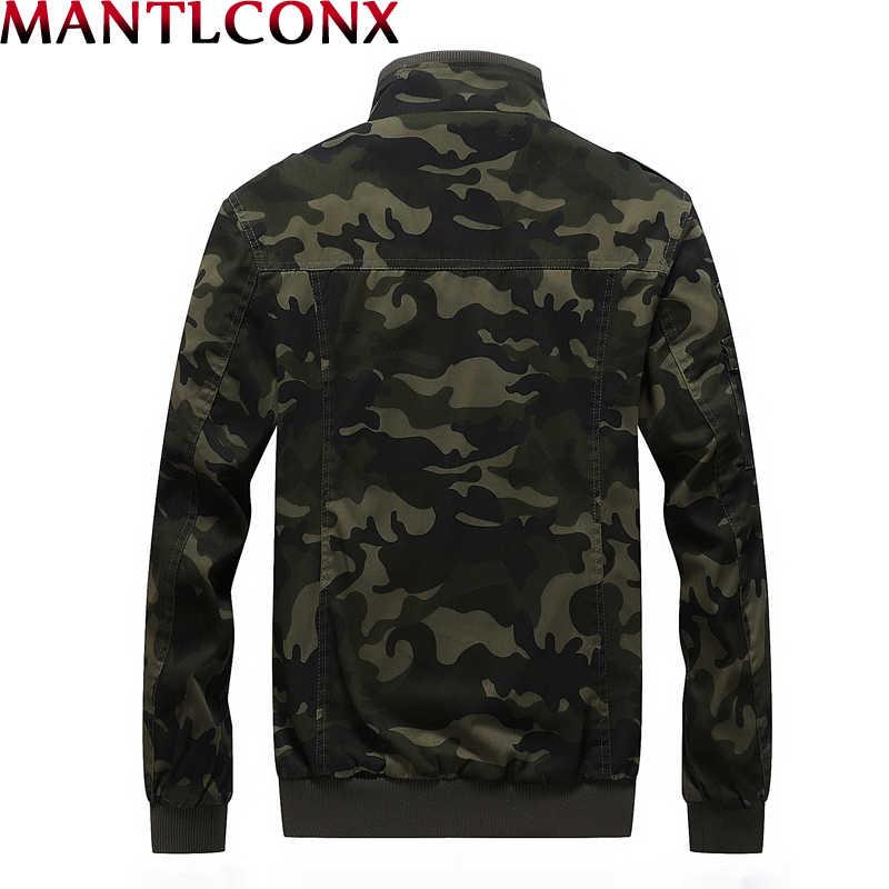 MANTLCONX Осенняя мужская Военная камуфляжная куртка армейская тактическая одежда мужская хлопковая военная куртка мужские камуфляжные ветровки