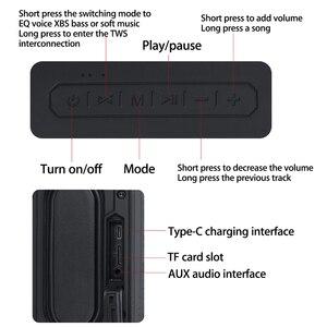 Image 2 - 40W TWS di Interconnessione di Inserimento della Carta Altoparlante Senza Fili di Bluetooth Funzione di Chiamata Impermeabile Portatile Allaperto Surround Sound Mini