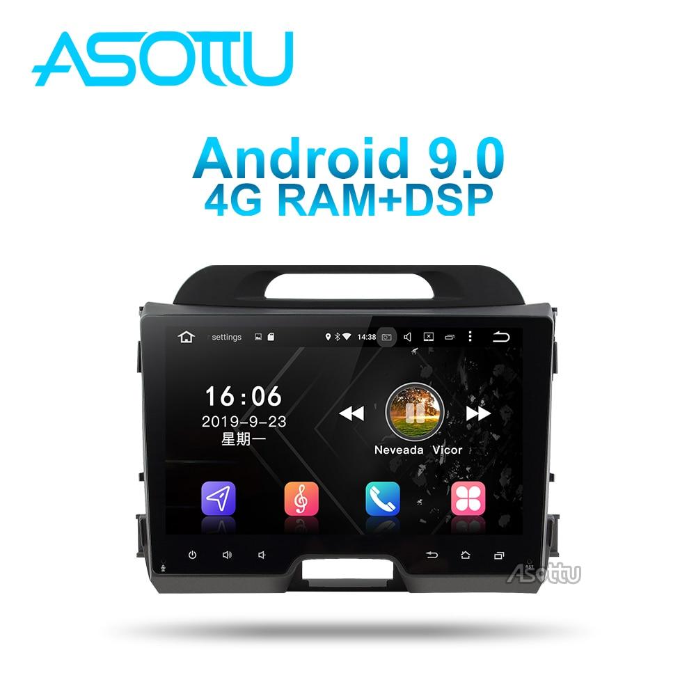 Asottu ki602 android 9.0 px6 dvd do carro para kia sportage 3 4 sl 2011 2012 2013 2014 2015 unidade central gps navegação carro multimídia