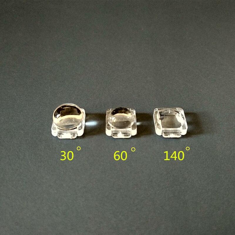RTU-7.6 высококачественные светодиодные линзы 5050, SMD линзы, размер: 140x5050 мм, угол: 30, 60, градусов, подходит для: источника света, PMMA