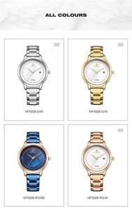 Image 5 - NAVIFORCE Women Watches Top Brand Luxury Ladies Wristwatch Stainless Steel Classic Bracelet Female Clock Relogio Feminino 5008