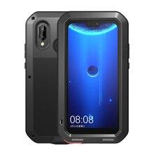 ラブメイメタルケース Huawei 社 P20 Lite 耐震電話カバー Huawei 社ノヴァ 3E Fundas 頑丈なため huawei 社 P20 Lite