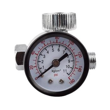 1/4inch Adjustable Mini Air Pressure Regulator Dial Gauge HVLP Spray Gun Pneumatic Air Tools Airbrush Accessories hvlp spray air regulator pressure gauge