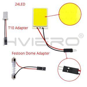 Image 3 - 2x branco 24 36 48smd cob led painel de leitura automática mapa lâmpada painel luz cúpula festoon ba9s 3 adaptador dc 12v auto led cob luzes led