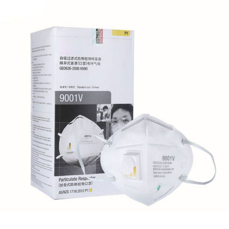 5 Pcs Particulate Respirator Surgical Face Mask With Cool Flow Valve Breathable And Comfortable Anti Pollution