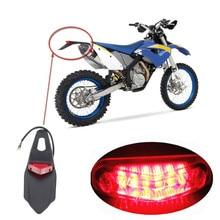 Мотоцикл Красный светодиодный 12 в задний фонарь тормозной красный объектив внедорожный Байк Универсальный SU низкое энергопотребление длительный срок службы# P10