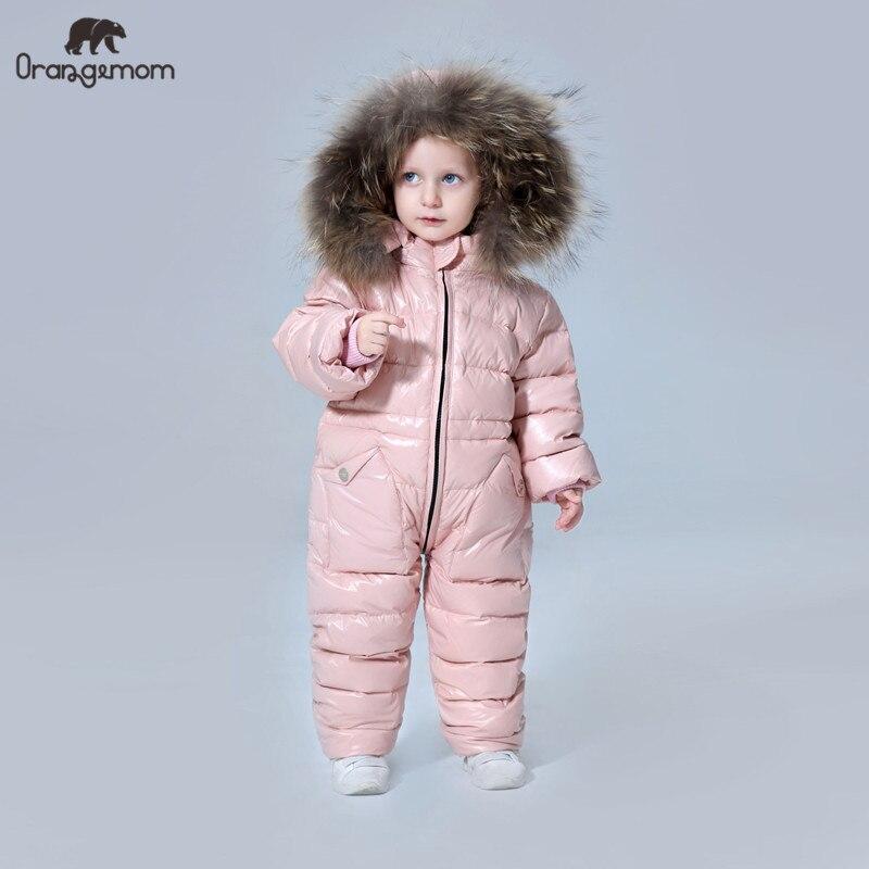 Детская одежда для русской зимы; пуховик; Верхняя одежда для мальчиков; пальто; утепленные Водонепроницаемые зимние комбинезоны; Одежда для девочек