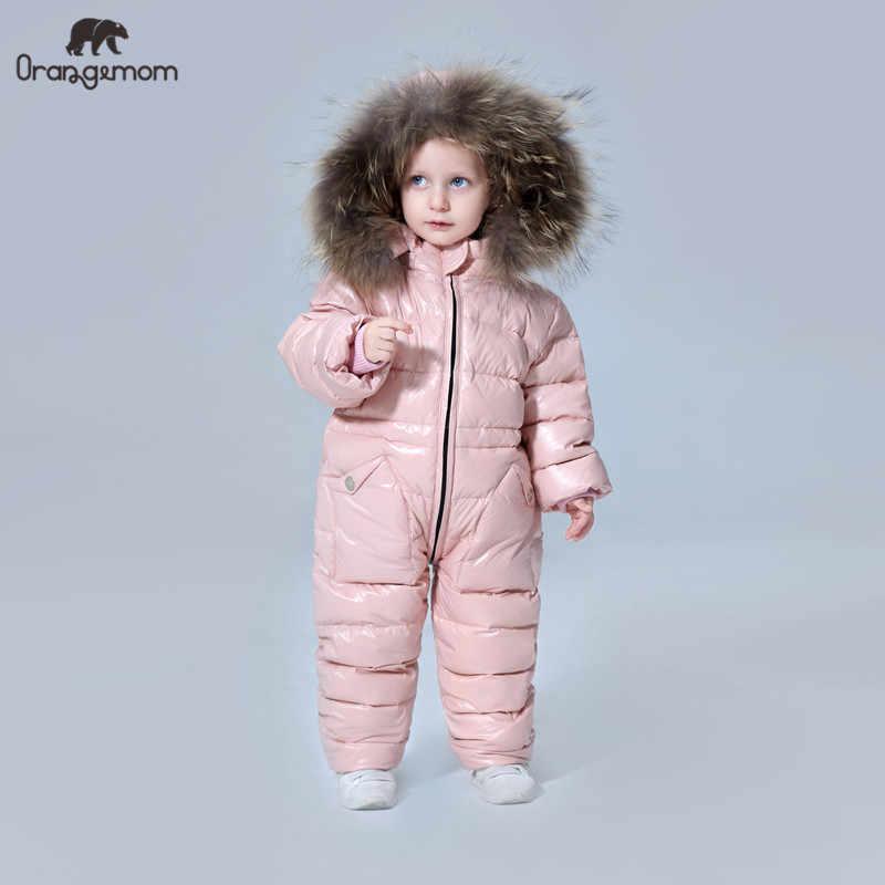תואר רוסית חורף בגדי ילדים למטה מעיל בני הלבשה עליונה מעילים, לעבות עמיד למים חליפות הללו בנות בגדים