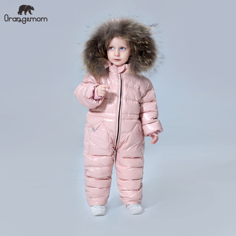 11.11 degree Russian winter children's clothing down jacket boys outerwear coats ,thicken Waterproof snowsuits Girls Clothing