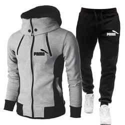 Autumn Winter Mens Suits With Pants Plus size Warm Tracksuit Sportswear Men's Running Sweatsuit Set 4XL Jogger Male Hoodies Coat