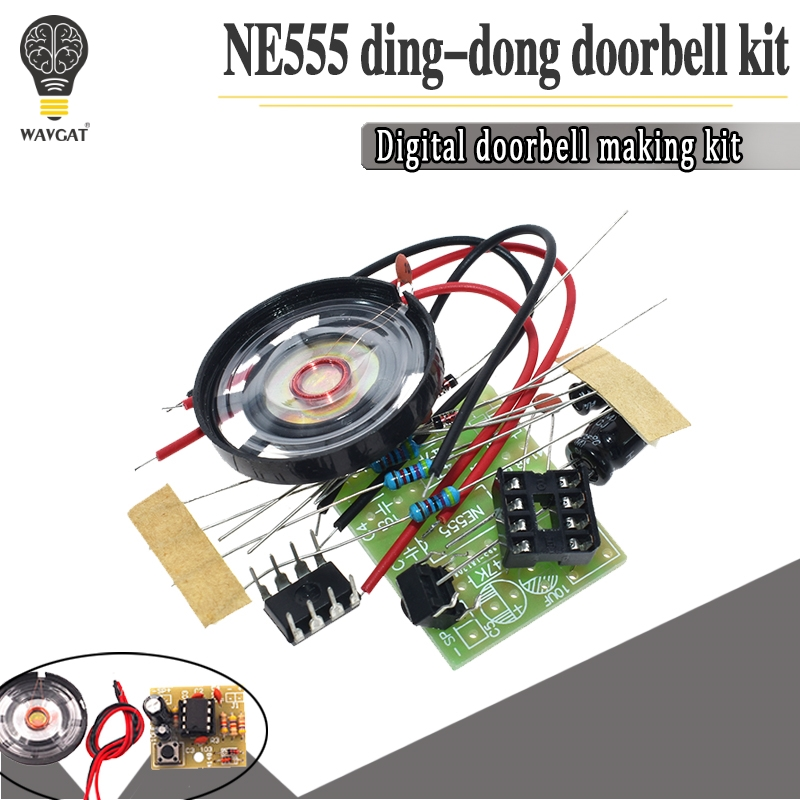 NE555 Doorbell Suite Electronic Production Doorbell Suite DIY Kit Ding dong doorbell PCB welding laboratory
