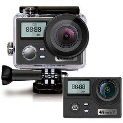 16MP podwójny ekran Ultra HD 4K kamera akcji pilot Wifi kamera 170D 30M podwodna wodoodporna kamera sportowa Mini kask Cam