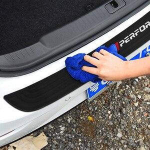 Image 5 - BMW X3 f25 e83 X4 f26 X5 e70 e53 f15 f85 X6 새로운 성능 고무 자동차 후면 범퍼 트림 후면 가드 플레이트 보호 스티커