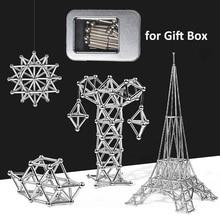 DIY Магнитный конструктор магнитные строительные блоки Строительный набор магнитные стержни и стальные шарики магнитные игрушки для детей и взрослых