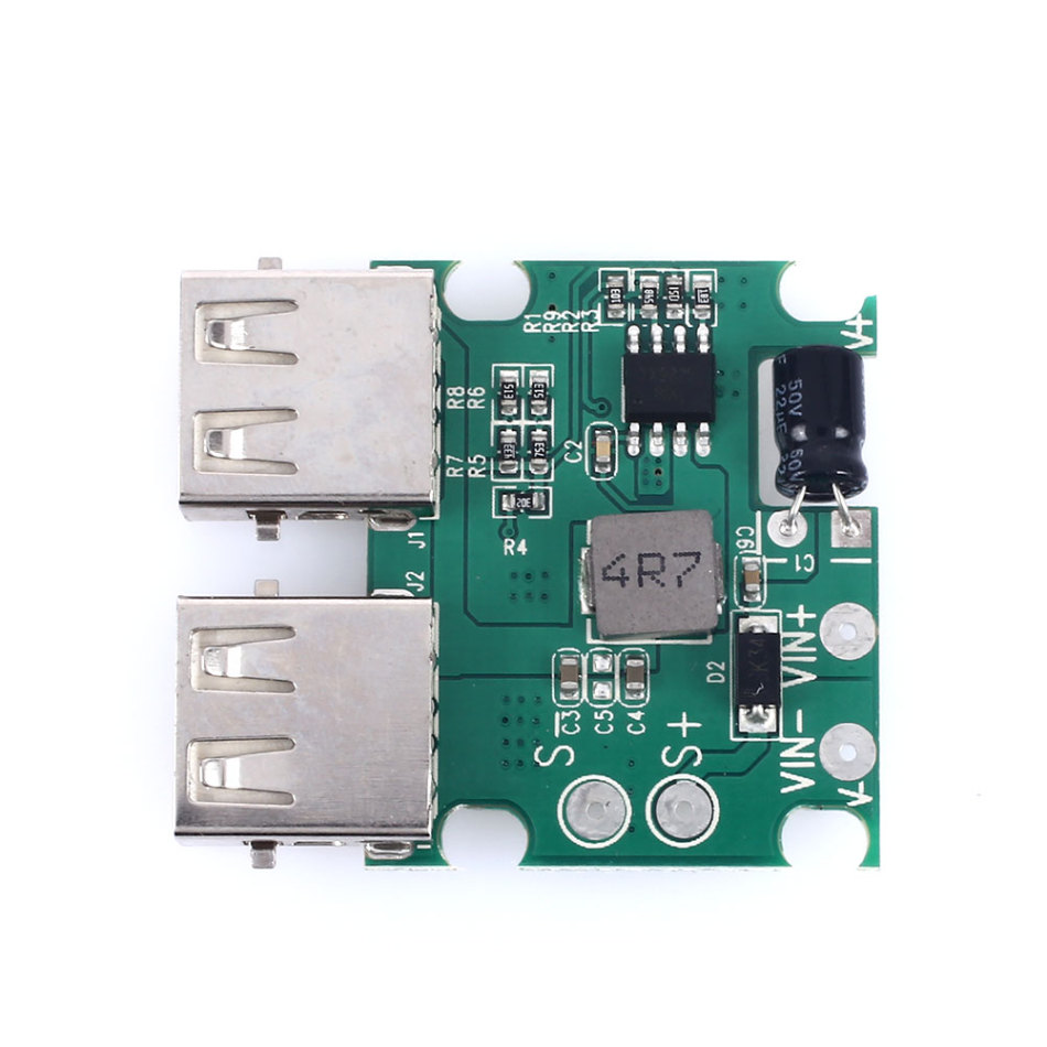Dual USB Charger 5V-20V to 5V 3A Max Regulator For Solar Cell Panel Fold Cover/ Phone Charging Power Supply Module with Crew