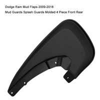 4PCS Mud Flaps Front & Rear for Dodge Ram 1500 09 18 2500/3500 2010 2018 Heavy Duty Molded Splash Guards (Only for Trucks)