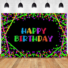 Neon lights Twinkle Happy Birthday Photo Backdrop Party Audlt Hip Hop Photography Background Banner Prop Decoration