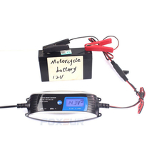 Car Battery Charger Lead Acid 6V 12V 0.8A 4A Motorcycle waterproof Charger 7-Stage Smart EFB Gel AGM Wet Car Charger