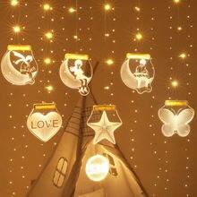 3d светильник гирлянда светодиодный крепкая романтическая usb