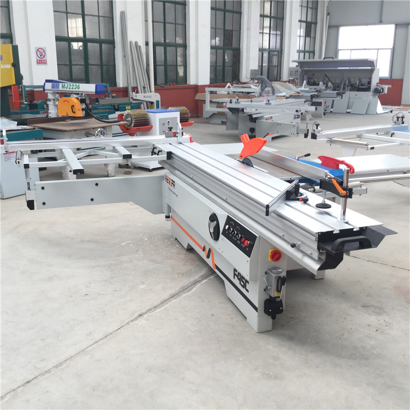 Woodworking Sliding Table Panel Saw Machine With Tilting 45 Degree Circular Saw For MDF Wood Cutting Machinery