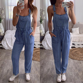 Women Jumpsuits Denim Overalls Jeans Bib Trousers Long Pants Dungarees Casual daily Streetwear Macacao Brief Body Mujer #25 1