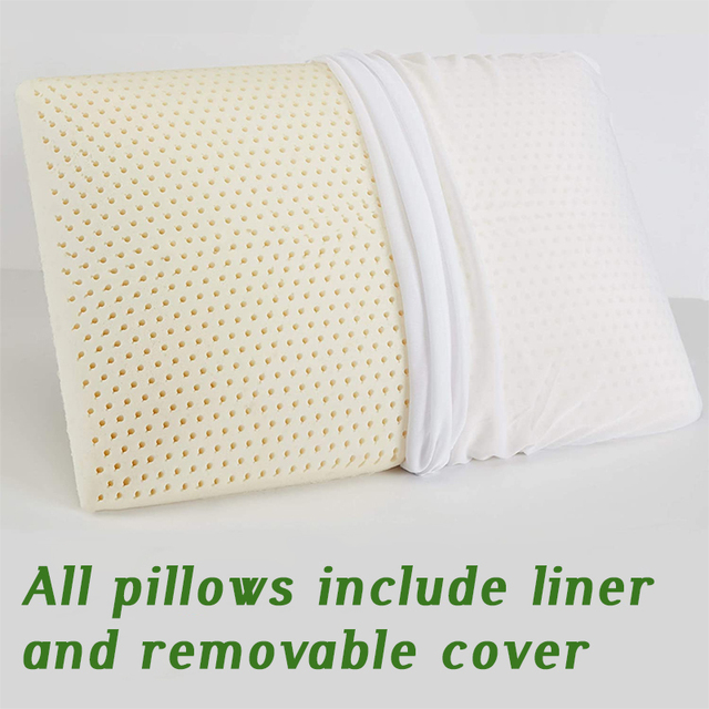 Orthopedic latex sleeping pillow