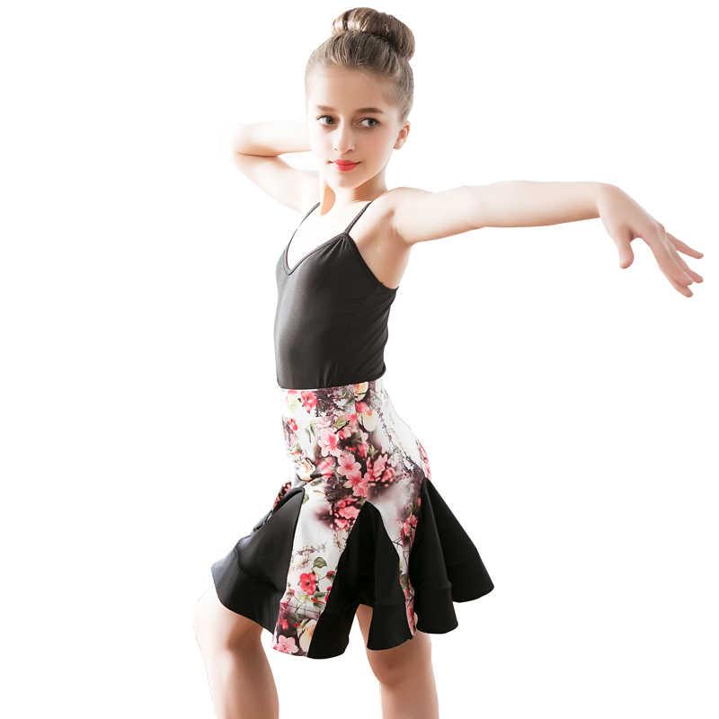 Neue Latin Dance Kleid Kinder Kleidung Mädchen Sommer Ärmellose Ballett Kleidung Kinder Geburtstag Kleid Bachata Dance Kostüm BI478