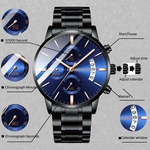 Image 2 - Belushi moda masculina relógios de quartzo analógico 30m à prova dwaterproof água cronógrafo esporte data aço relógio masculino relógios militares